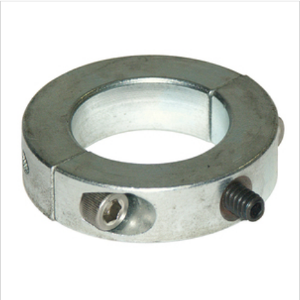 2-Piece Clamp Style Collar Zinc Plated