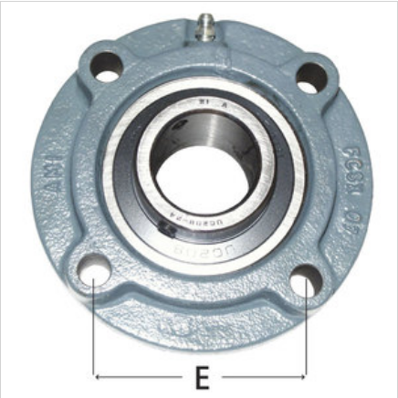 4-Bolt Piloted Flange Bearing For Hanna Wrap Around