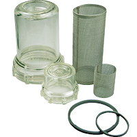 Clear Bowl Inline Strainer Parts