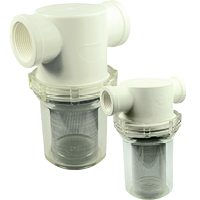 Clear Bowl Inline Strainers
