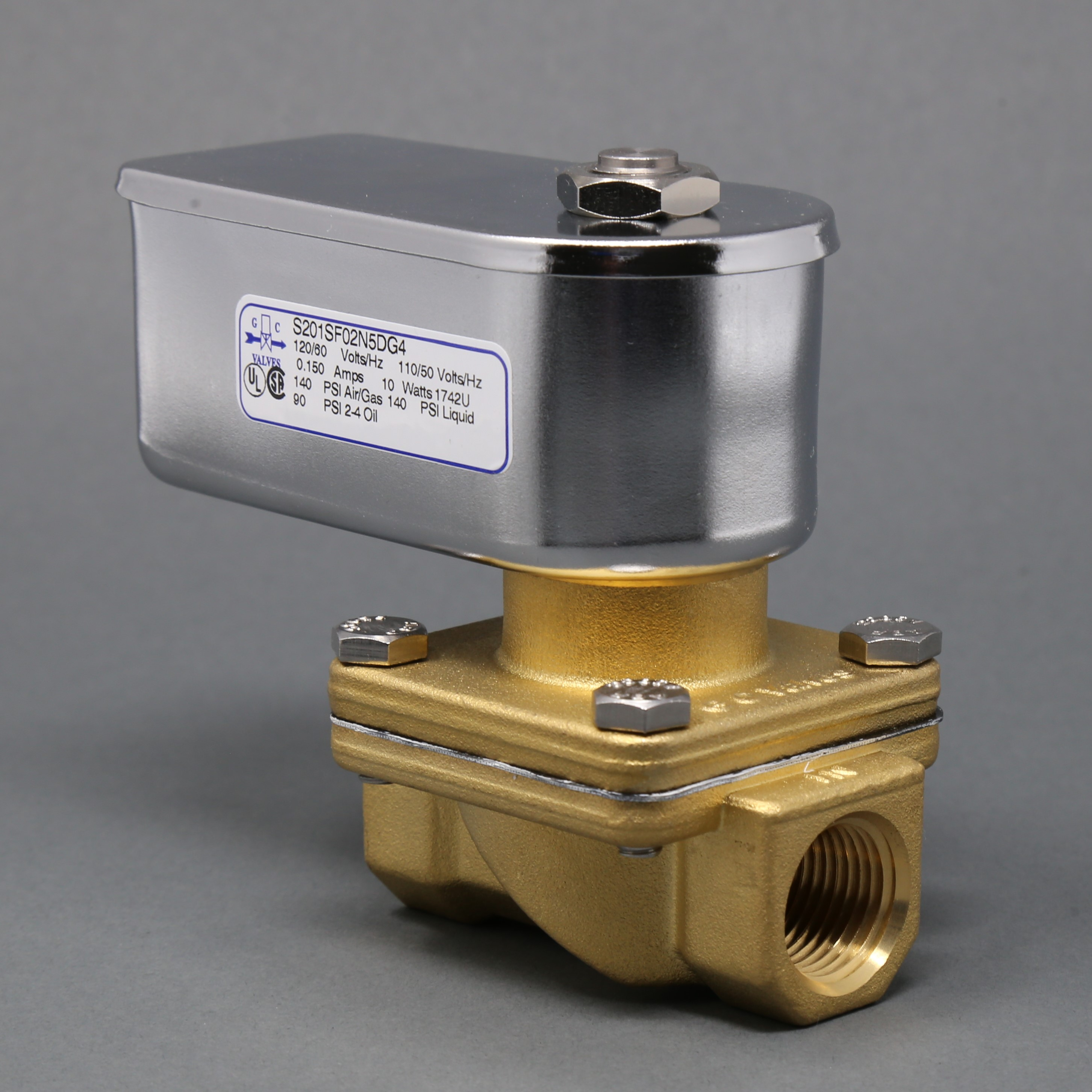 GC Valves S201 Series Normally Closed Solenoid Valve