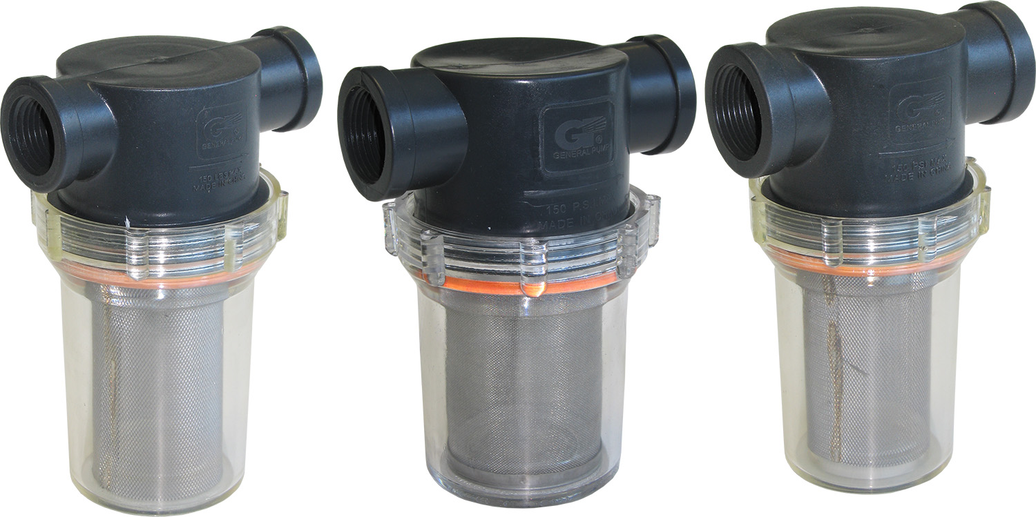 General Pump Clear Bowl Inline Strainers