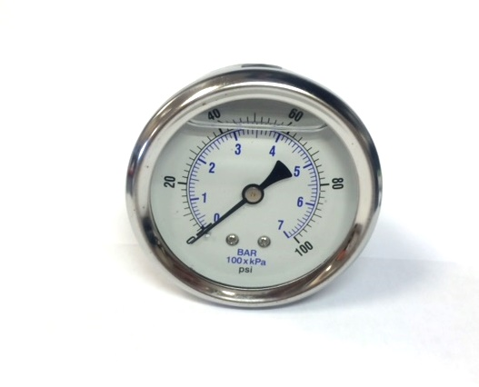 Rear Mount Liquid Filled Pressure Gauges